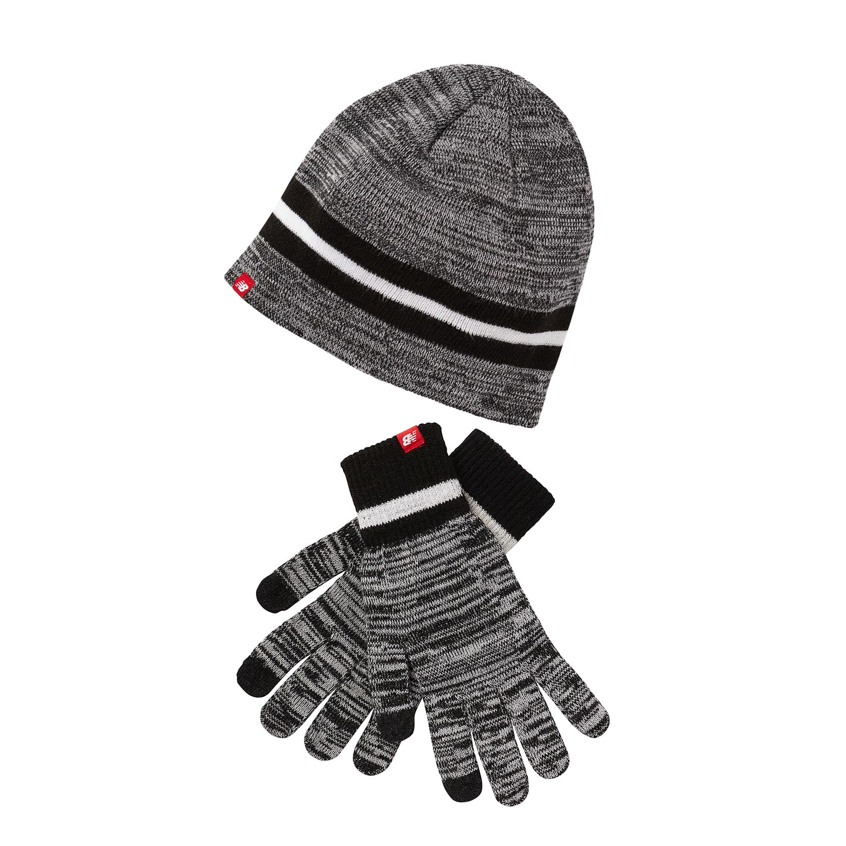 Шапка та рукавиці BEANIE & GLOVES GIFT SET LAH93014BK | New Balance