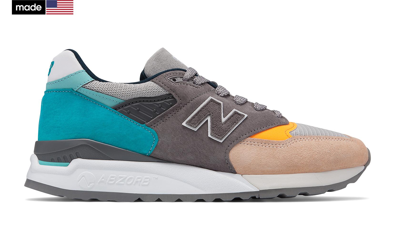Чоловіче взуття повсякденне New Balance 998 Made in US M998AWB | New Balance